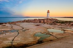 Peggys Cove at Dawn by Cliff LeSergent, via 500px.