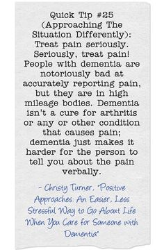 #quicktip #pain #behaviors #dementia #ctcdcm Visit our site at http://www.CTCDementiaCareManagement.com