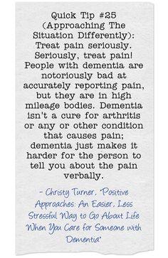 #quicktip #pain #behaviors #dementia #ctcdcm Visit our site at http://www.CTCDementiaCareManagement.com
