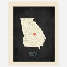 Georgia Customizable Map, $22, now featured on Fab.