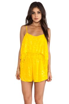 Indah Kerala Printed Romper in Yellow Salt