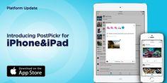 [ 📣 #PlatformUpdate ] L'App iOS di PostPickr per iPhone e iPad è finalmente disponibile su App Store!