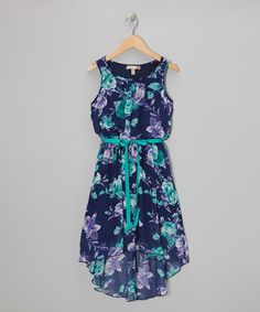 Cast in the light of the beaming smiles all around them, little sprouts are sure to bloom with elegant grace in this sweet dress. The cool tie in front and hi-low cut ensure that they're positioned to catch the rays in comfy style.100% polyesterMachine wash; dry flat