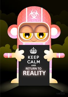 cute, free, fun, image, keep calm and, keep calm and carry on, keep calm and let it go, keep calm and return to reality, meme, monkey, suit, viral, virus