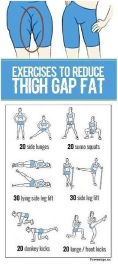 8 Simple Exercises To get Rid of Thigh Gap fat #Innerthighworkouts by earlene