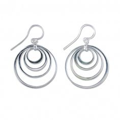 Nested Circles Drop Earrings  925 Sterling Silver Nested Circles Drop Earrings  £29.00  http://www.icejewellery.com/nataliewilkinson/1/
