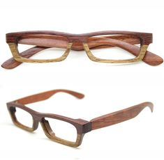 LOVEWOOD twotone rosewood TAKEMOTO glasses frame only by TAKEMOTO, $199.00