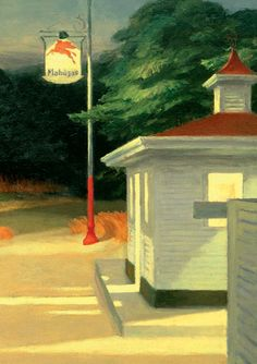 Mindfulness through art: Gas, Edward Hopper (1882-1967) 1940, oil on canvas, 66.7 x 102.2 cm, Museum of Modern Art, New York, Mrs Simon Guggenheim Fund