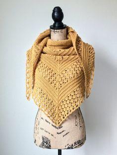 Triangle Shawl knitting pattern PDF easy shawl scarf