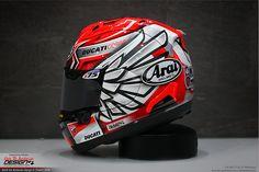 thebarbarian   arai mika giron Bari, Honda, Helmet, Hockey Helmet, Helmets