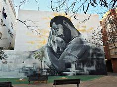 Fantastic and creative street art by spanish artist xolaka – leaky lifeboat Best Street Art, Amazing Street Art, Mural Art, Wall Art, Black And White Painting, Spanish Artists, Arte Popular, Outdoor Art, Street Art Graffiti
