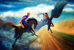 Jason Grace and Percy Jackson. Mark of Athena