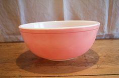 Fabulous PINK PYREX Lovely  404 Mixing BOWL. by GottaBuyVintage