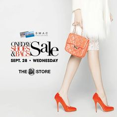 Calling all SM Advantage and SM Prestige members!  Mark the date and be ready! The 1-DAY Shoes & Bags SALE happens on September 28, 2016, Wednesday in all The SM Store branches nationwide!   Enjoy up to 20% OFF on ALL regular-priced items on major brands of Ladies, Men's, Children's Shoes, Bags & Luggage.   *Extended to BDO Rewards, PRiMO, SM Stationery & Mom card members at The SM Store.  For more promo deals, VISIT http://mypromo.com.ph/! SUBSCRIPTION IS FREE!