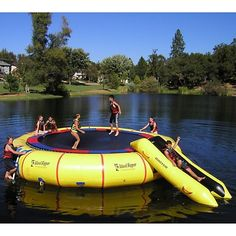 Fancy - Island Hopper Giant Jump 25 Foot Water Trampoline How fun would this be!