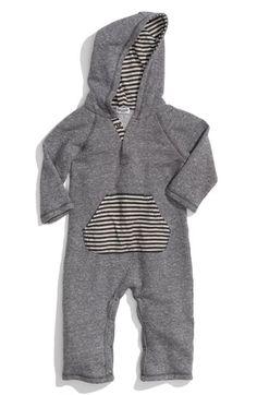 Splendid Hooded Romper (Infant) $68. Love splendid! Must get this for the little guy!