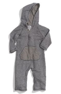 Splendid Hooded Romper (Infant) | Nordstrom