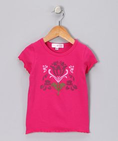 Take a look at this Fuchsia Flower Tee - Toddler & Girls by Lily Cake on #zulily today!