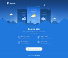 Coolcal Landing Page – MaterialUp