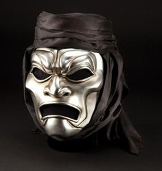 "Hero ""Immortal"" Persian warrior mask and turban from 300 High Fantasy, Medieval Fantasy, Immortal Masks, Persian Warrior, Ancient Sparta, Greek Mythology Tattoos, Ceramic Mask, Cool Masks, Asian History"