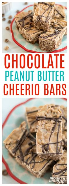 No Bake Almond Chocolate Peanut Butter Cheerio Bars make the perfect back-to-school treat. Using Cheerios these popular cereal bars will curb any appetite.  #ad #NewYearNewCereal @walmart