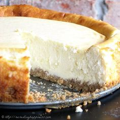 Naturally gluten free with a Chex cereal made crust - NY-style but even tastier! #cheesecake  - I used Cinnamon Chex to make the crust = awesome!