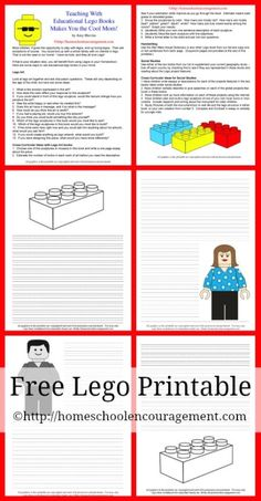 15 Educational Lego Books Your Kids Will Love for LEGO Learnibg! (w/Free LEGO Printable on using them in your #homeschool) from  #HSencouragement