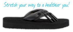 xpert opinion and customer testimonials show that Yoga Sandals® help  offer the following benefits:  Increase foot strength Relieve stress within the foot Align toes Correct postural alignment Stretch leg muscles Stretch Achilles tendon Help Improve circulation