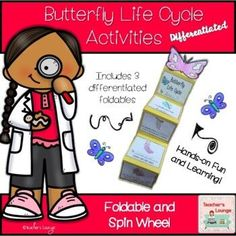 Life Cycles of a Butterfly - Differentiated by Teacher's Lounge | TpT Kindergarten Centers, Teaching Kindergarten, Teaching Ideas, Preschool, Mad Science, Stem Science, Science Lessons, Teaching First Grade, 2nd Grade Classroom