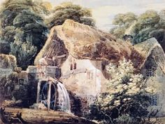 An Overshot Mill Painting by Thomas Girtin.