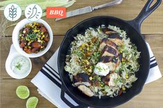 Blackened Chicken with Zucchini Rice made easy. Discover Goodfood's Blackened Chicken with Zucchini Rice meal kit delivery featuring farm-fresh ingredients. Rice Recipes, Healthy Recipes, Healthy Food, Zucchini Rice, Blackened Chicken, Make It Simple, Bbq, Meals, Fresh