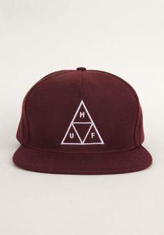 7f8561d0cad HUF Clothing Triple Triangle Snapback Hat - Maroon  36.00  huf