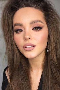 36 Ideas For Natural Bridal Makeup ❤ natural bridal makeup eyes shades fox arrows with nude lips yana. Sexy Eye Makeup, Fox Makeup, Glossy Makeup, Nude Makeup, Natural Eye Makeup, Hair Makeup, Makeup Eyes, Makeup Inspo, Soft Wedding Makeup