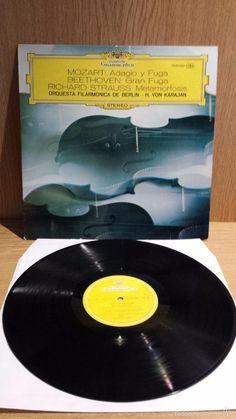 MOZART / BEETHOVEN / STRAUSS. ORQ. FILARM. DE BERLIN / VON KARAJAN. LP / GRAMMOPHON. ***/***