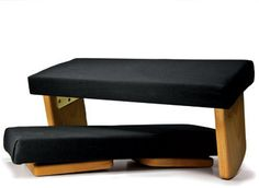 One of our best-selling meditation benches. This handsome seiza bench comes with a non-removable black cushion and folding legs that make it easy to pack, even in a small suitcase. Rounded base gives you just the right amount of tilt. Meditation Stool, Meditation Room Decor, Meditation Cushion, Meditation Space, Meditation Music, Yoga Blanket, Black Cushions, Home Staging, Home Decor