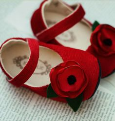 Red Poppy Shoes Sweetness