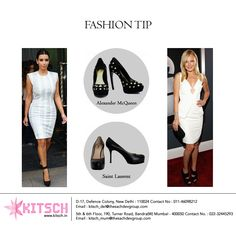 Quintessentially Black! A pair of black pumps is what every woman must own,they go with almost every outfit.Check out how these celebrities have looked edgy by adding black pumps to subdued outfits.Shop yours at #Kitsch!