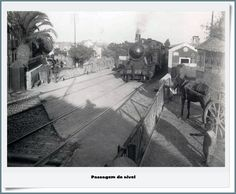 Portugal, Old Trains, Train Tracks, Lisbon, Past, Street, Outdoor, Buildings, Old Pictures