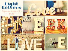 Light Letters - Senhora Inspiração! Blog https://www.facebook.com/senhorainspiracao?ref=hl