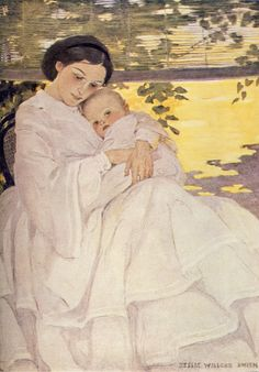 Jessie Willcox Smith was one woman who did break into this male ... Find out more about the fabulous Vintage book illustrations created by Jessie Willcox Smith at http://vintagebookillustrations.com/jessie-willcox-smith-a-celebration-of-childhood/