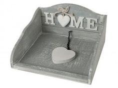 Box na ubrousky šedá patina -HOME