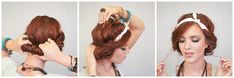 The Freckled Fox : Festival Hair Week: Easy Headscarf Roll