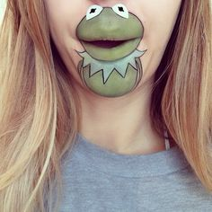 Kermit the Frog Mouth Makeup