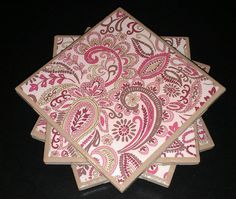 These coasters would work perfectly in a girly girl's room! Her room is too cute to let things scuff up her furniture. Coasters aren't limited to drinks; they can hold candles, pen jars, or anything else that you'd rather not have directly touching your furniture's surface.