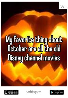 My favorite thing about October are all the old Disney channel movies