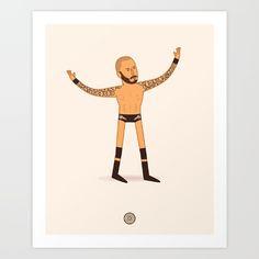 Randy Orton - Pro Wrestler Illustration Art Print