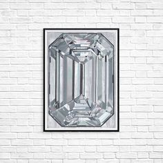 Diamond Gem Gemstone painting Print Poster Grey diamond Diamondart Abstract art Modern art Decor Wall art Blingbling geometricart fancy art Painting Prints, Art Prints, Colorful Paintings, Female Art, Wall Art Decor, Modern Art, Abstract Art, Poster Prints, Bling
