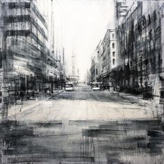 "Valerio D'Ospina, ""Wazee St,"" 48x48, Oil on Panel, 2016."