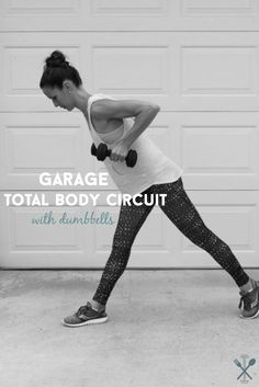 A workout you can do in your own garage, or the gym! Garage total body circuit with dumbbells will tone and sculpt your entire body.