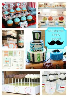 mustache party | Little Man To Big Man Mustache Party!